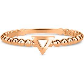 anel life triângulo banho ouro rosé