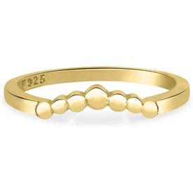 anel life triangular bolinhas banho ouro amarelo