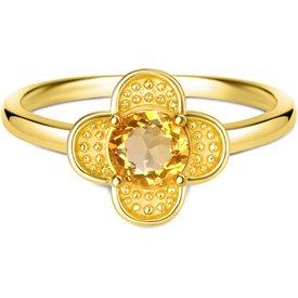 anel life jasmine citrino banho ouro amarelo