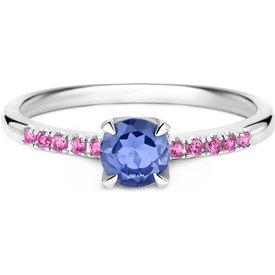 anel life iolita lilás rodolitas rosas