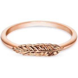 anel life pena banho ouro rosé