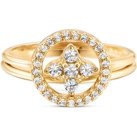 anel life you and banho ouro amarelo