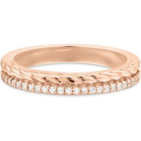 anel life twist banho ouro rosé
