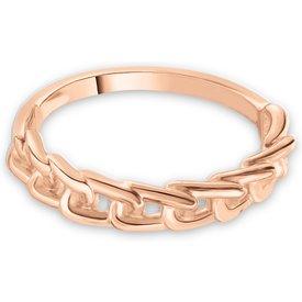 anel life together banho ouro rosé
