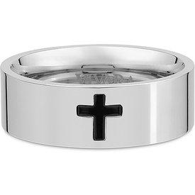 anel cruz life masculinoço níquel claro