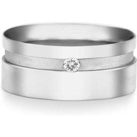 aliança casamento ouro branco diamante 8mm