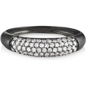 anel ouro branco ródio negro diamantes