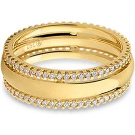 aliança casamento ouro amarelo diamantes 5 mm