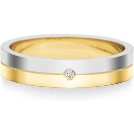 aliança casamento ouro branco amarelo diamante 4mm