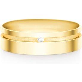 aliança casamento ouro amarelo diamante 6mm