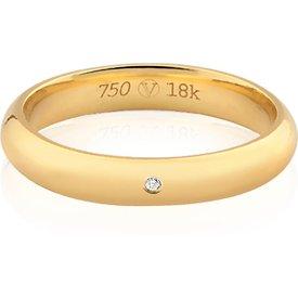 aliança casamento ouro amarelo diamante lovely 4mm