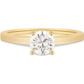 anel ouro amarelo diamante