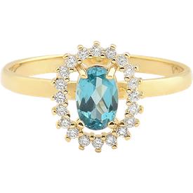 anel ouro amarelo apatita diamantes