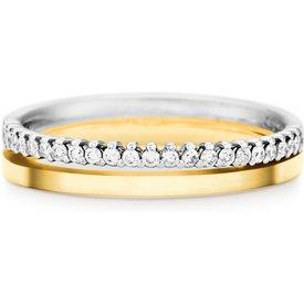 aliança casamento ouro amarelo branco diamantes 3.6mm