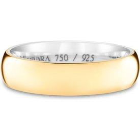 aliança casamento prata ouro amarelo romance 5mm