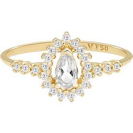 anel ouro amarelo topázio diamantes
