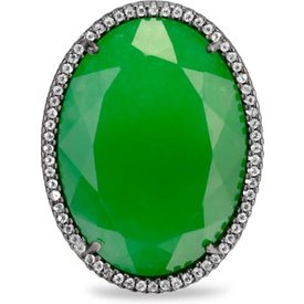 anel donzela prata nefrita topázios