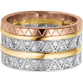 anel ouro amarelo branco rosé e diamantes