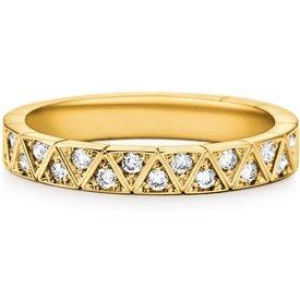 aliança casamento ouro amarelo diamantes 3.4 mm