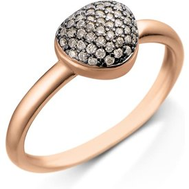 anel bold ouro vivara diamantes brown pequeno