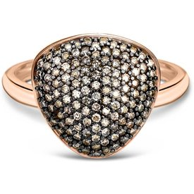 anel bold ouro vivara diamantes brown grande