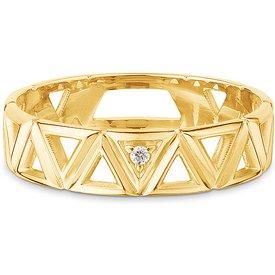 anel icona ouro amarelo diamantes pequeno