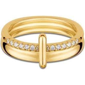 anel elos ouro amarelo diamantes