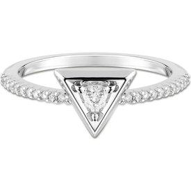 anel ouro branco diamantes pequeno