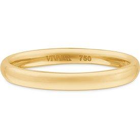 aliança casamento ouro amarelo 3 mm
