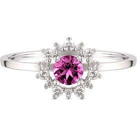anel ouro branco rodolita diamantes