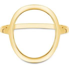 anel círculo ouro amarelo
