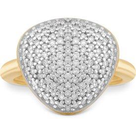 anel bold ouro amarelo diamantes grande