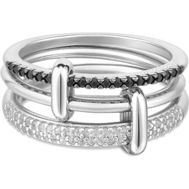 anel elos prata safiras