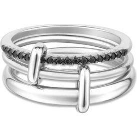 anel elos prata safiras negras