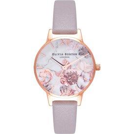 relógio olivia burton feminino couro lilás  ob16cs14