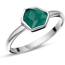 anel life my stone ágata verde