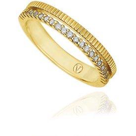 anel ouro amarelo diamante branco