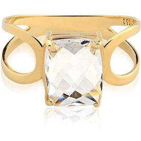 anel ouro amarelo cristal
