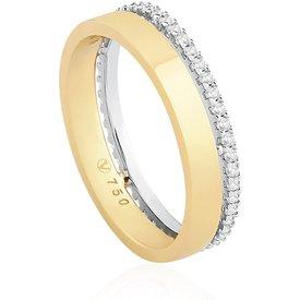 aliança casamento ouro amarelo ouro branco diamantes