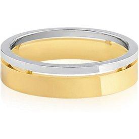 aliança casamento ouro amarelo branco 5mm