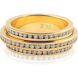 aliança casamento ouro amarelo diamantes love 6mm