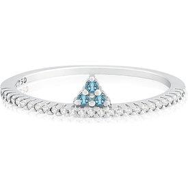 anel ouro branco diamante topázio