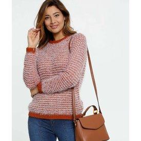 suéter feminino tricô manga longa marisa