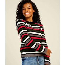 suéter juvenil listrado marisa tam 10 16