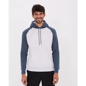 blusão esportivo moletom canguru liso