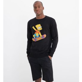 sueter tricô estampa bart simpsons