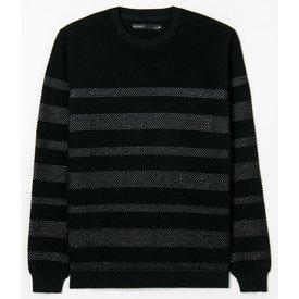 suéter tricô com listrado