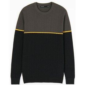 suéter algodão blocos cor