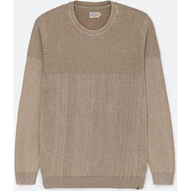 suéter tricô fit comfort textura lavada