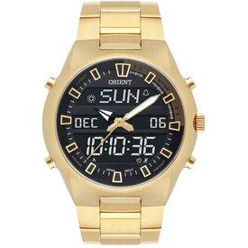 relógio masculino orient mgssa004 pxkx analógico  digital